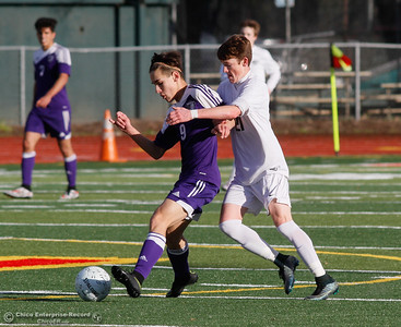 The Chico High boys soccer team hosts Shasta in a Northern Section Division 1 semifinal game Wednesday February 21, 2017 at Chico High School in Chico, California. (Emily Bertolino -- Enterprise-Record)