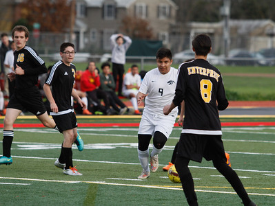 Chico High hosts Enterprise in a playoff soccer game February 16, 2017 in Chico, California. (Emily Bertolino -- Enterprise-Record)