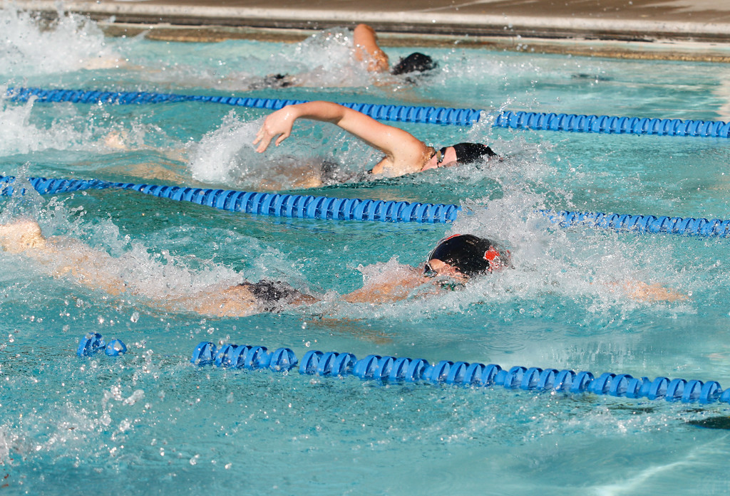 . Chico High hosts Foothill in a dual swim meet Wednesday September 13, 2017 Bidwell Junior High in Chico, California. (Emily Bertolino -- Enterprise-Record)