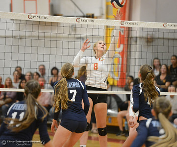 Chico High hosts cross town rival Pleasant Valley volleyball Thursday October 5, 2017 at Chico High School in Chico, California. (Emily Bertolino -- Enterprise-Record)