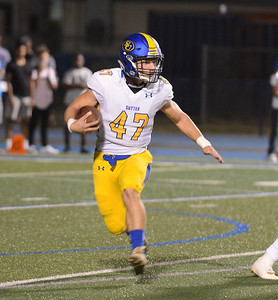 Sutter High's Bryce Kunkle during a football game against Chico High Friday September 29, 2017 Asgard Yard in Chico, California. (Emily Bertolino -- Enterprise-Record)