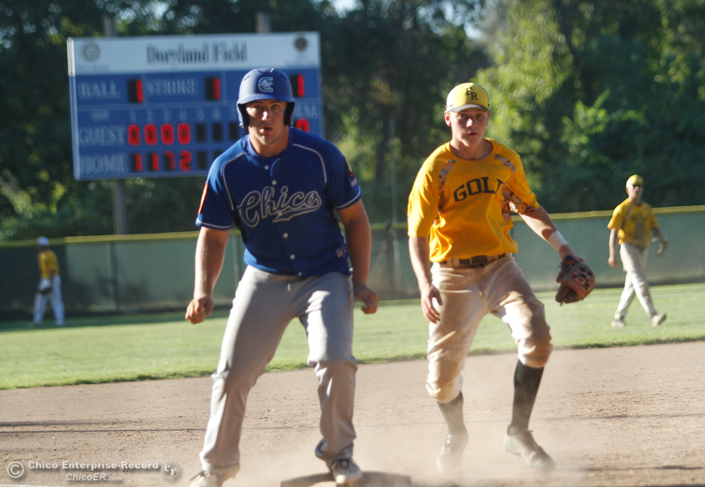 . Chico Nuts host the Feather River Gold in a doubleheader Tuesday July 11, 2017 at Ron Doryland Field in Chico, California.  (Emily Bertolino -- Enterprise-Record)