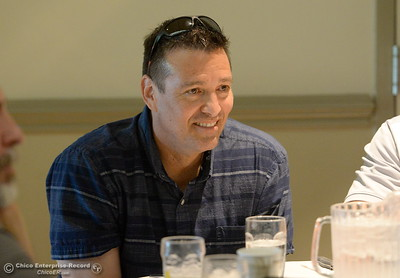PV Boys Basketball Coach Tiem Keating enjoys some conversation during the 46th annual Chico Sports Hall of Fame and Senior Athletes Banquet at the Chico Elks Lodge  in Chico, Calif. Tuesday May 8, 2018. (Bill Husa -- Enterprise-Record)