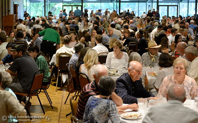during the 46th annual Chico Sports Hall of Fame and Senior Athletes Banquet at the Chico Elks Lodge  in Chico, Calif. Tuesday May 8, 2018. (Bill Husa -- Enterprise-Record)