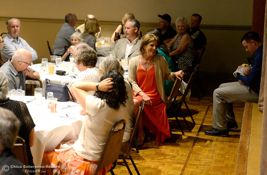. during the 46th annual Chico Sports Hall of Fame and Senior Athletes Banquet at the Chico Elks Lodge  in Chico, Calif. Tuesday May 8, 2018. (Bill Husa -- Enterprise-Record)
