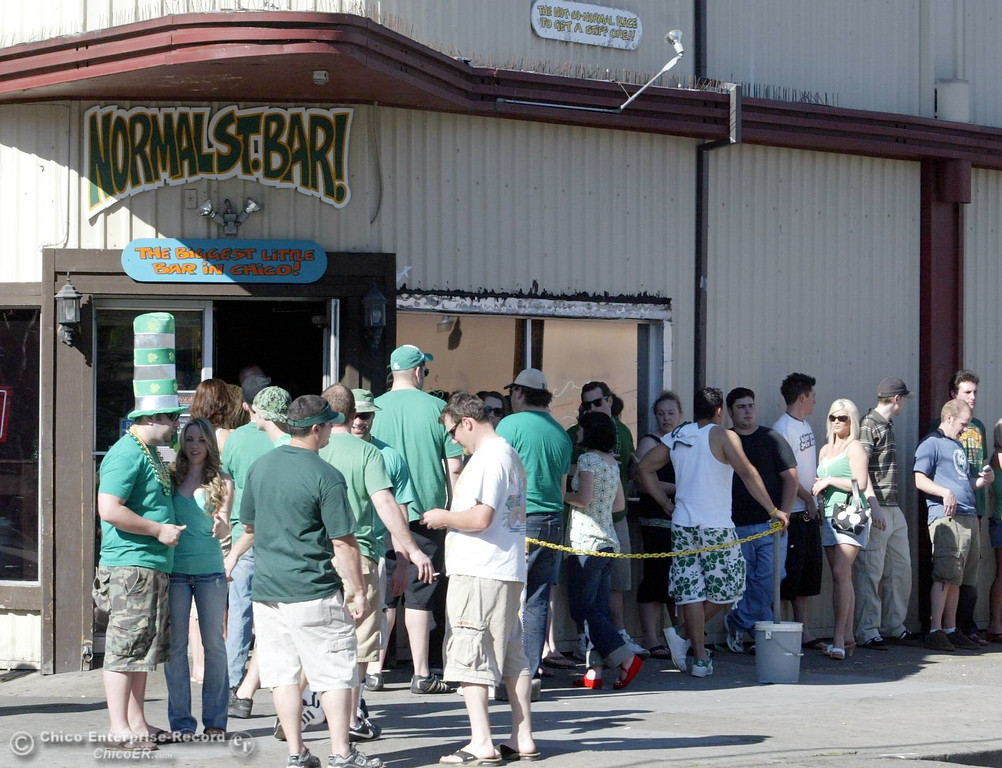 . The line at Normal St. bar begins to grow as people celebrate St. Patrick\'s Day on Saturday, March 17, 2007 in Chico, CA. 