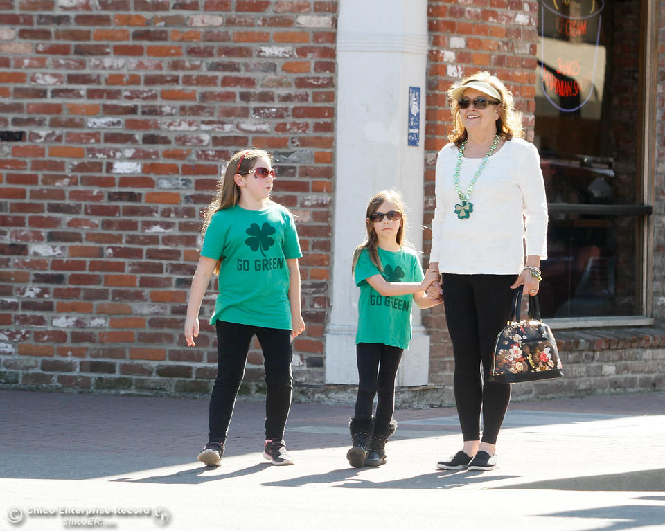 . People participate in St. Patrick Day celebrations March 17, 2016 in downtown Chico, Calif. (Emily Bertolino -- Enterprise-Record)