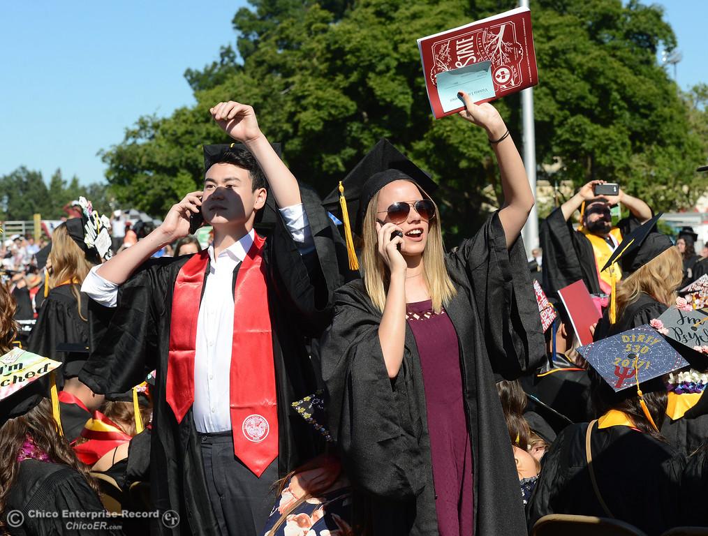 . Chico State graduates receive their diplomas Saturday, May 20, 2017, at University Stadium in Chico, California.  (Dan Reidel -- Enterprise-Record)