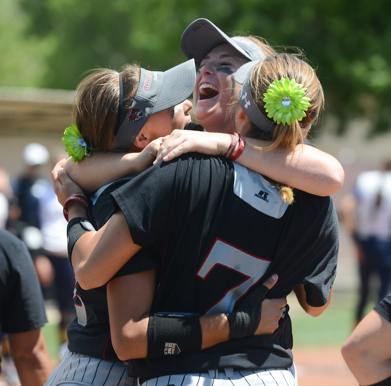 . Chico State celebrates as they win the NCAA West Regional championship game against Northwest against California Baptist, May 12, 2018,  in Chico, California. (Carin Dorghalli -- Enterprise-Record)