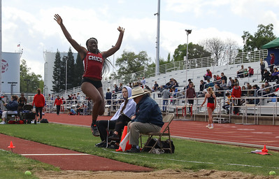 Chico State Track, April 7, 2018, in Chico, California. (Carin Dorghalli -- Enterprise-Record)