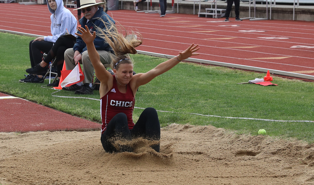 . Chico State Track, April 7, 2018, in Chico, California. (Carin Dorghalli -- Enterprise-Record)