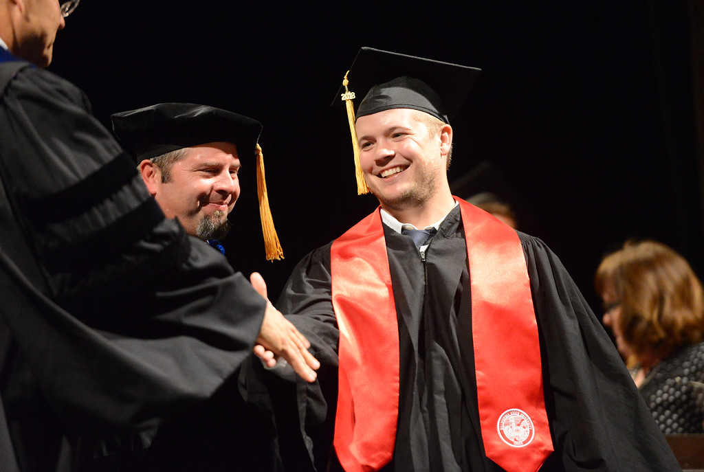 . Austin Murray Harris graduates during the College of Agriculture Commencement Ceremony, May 18, 2018,  in Chico, California. (Carin Dorghalli -- Enterprise-Record)