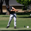 Serge Kiriluk tees off on the 15th hole as the Chico State mens golf team faces Cal State Monterey Bay in match play Wednesday, April 25, 2018, for the California Collegiate Athletic Association championship at the Butte Creek Country Club in Chico, California. (Dan Reidel -- Enterprise-Record)