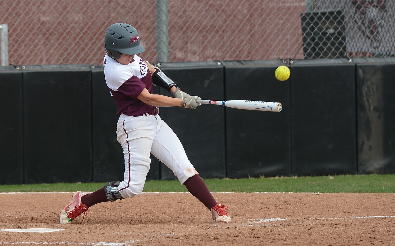 Chico State's Wendy Cardinali hits the ball, Friday, March 9, 2018, in Chico, California. (Carin Dorghalli -- Enterprise-Record)