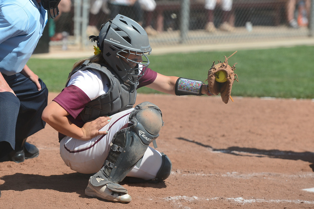 . Chico State\'s Claire Wayne catches the ball during a home game against Northwest Nazarene, May 10, 2018,  in Chico, California. (Carin Dorghalli -- Enterprise-Record)