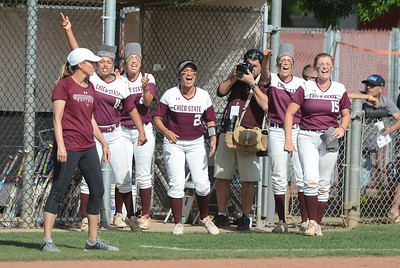 Chico State vs. Northwest Nazarene softball, May 10, 2018,  in Chico, California. (Carin Dorghalli -- Enterprise-Record)