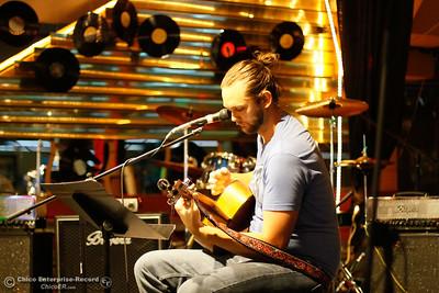 "Trevor Delasauz ""The Gentle Giant"" plays during Chico Strikes back April 7, 2016 at the Down Lo in Chico, Calif. (Emily Bertolino -- Enterprise-Record)"