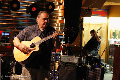 Robert Karch plays through the lunch hour as Morgan Wenter prepares to take the stage during Chico Strikes Back Tuesday April 5, 2016 at the Down Lo in Chico, Calif. (Emily Bertolino -- Enterprise-Record)