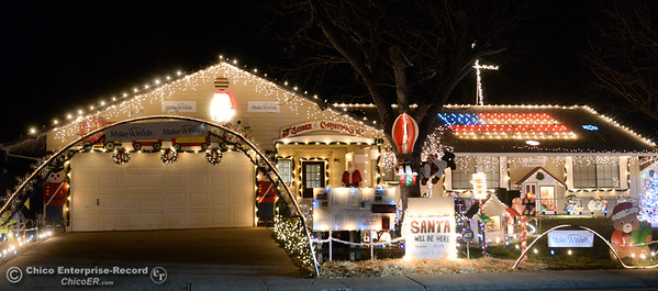 The Christmas light display Wednesday, Dec. 12, 2018, at the Tiffany home on the 500 block of Cimarron Drive is one of many on the 2018 Chico Tour of Lights in Chico, California. (Dan Reidel -- Enterprise-Record)