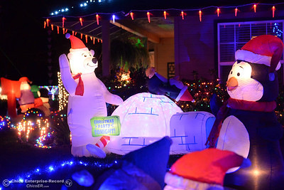A home at the corner of Yellowstone Drive and Mt Whitney Court has many Christmas decorations Wednesday, Dec. 12, 2018, in Chico, California. (Dan Reidel -- Enterprise-Record)