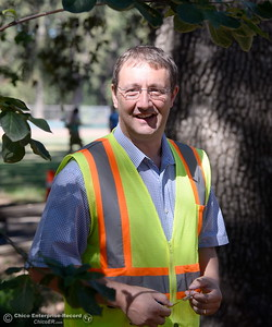 City of Chico Urban Forest Manager Richie Bamlet smiles as he talks about tree work in Bidwell Park near Caper Acres Tuesday, July 10, 2018. Bamlet wrote a grant application that landed a $426,000 grant from Cal Fire. The grant will help the city with a tree inventory, including checking and planting trees in Bidwell Park.  (Bill Husa -- Enterprise-Record)