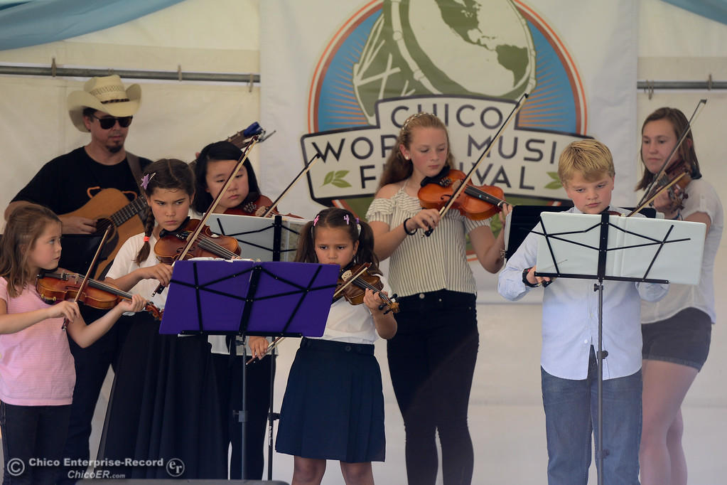 . Fiddlers Fantastic performs at the Chico World Music Festival Saturday September 9, 2017 at CSUC in Chico, California. (Emily Bertolino -- Enterprise-Record)