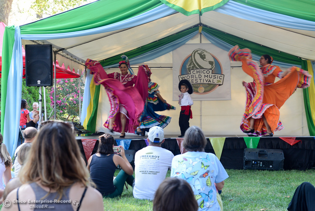 . Ballet Folklorico de Chico, traditional Mexican folk dance, performs during the Chico World Music Festival Saturday September 9, 2017 at CSUC in Chico, California. (Emily Bertolino -- Enterprise-Record)