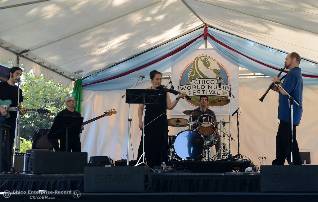 . Balkalicious Fire Drive performs at the Chico World Music Festival Saturday September 9, 2017 at CSUC in Chico, California. (Emily Bertolino -- Enterprise-Record)
