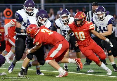 during Chico High vs Lassen High School varsity football action at Chico, Calif. Friday Aug. 31, 2018.  (Bill Husa -- Enterprise-Record)