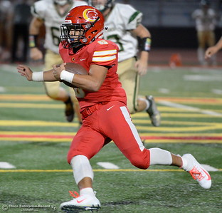 during Chico vs Red Bluff football at Chico Calif. Friday Oct. 12, 2018. (Bill Husa -- Enterprise-Record)
