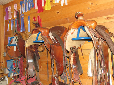 The equipment room at the main barn