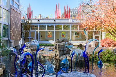 'Garden Fiori' With 'Red Reeds & Sunset Sprays' And 'Light Drawings' In The Background, All By Dale Chihuly