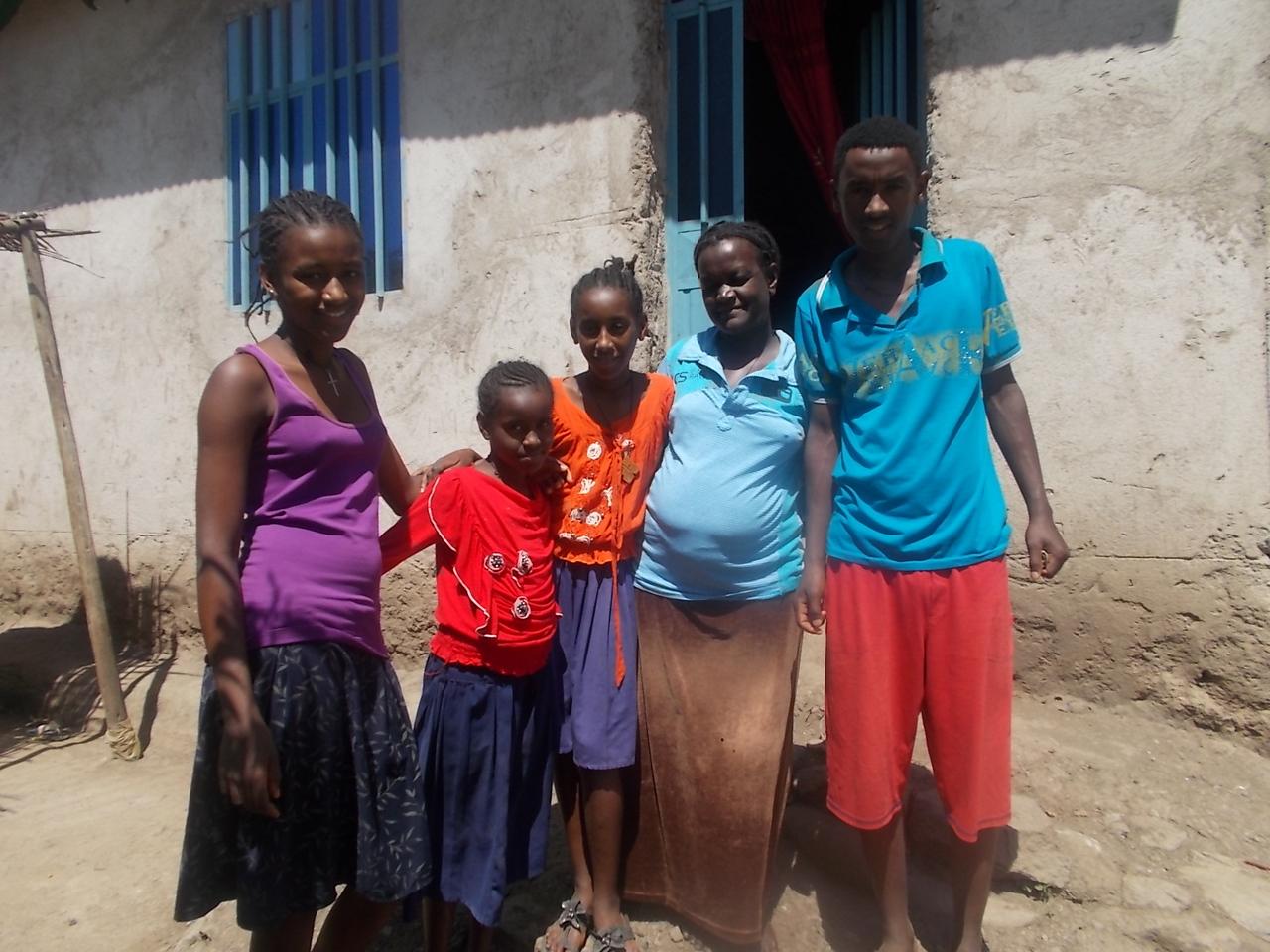 Chali With her Children