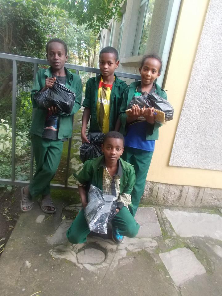 From Left to right-Meka,Kebede, Yonas(sitting),Sintayehu(girl)kerehora