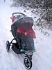 Snow on the pushchair