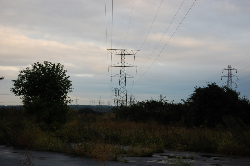 Pylons near M25 Dartford crossing