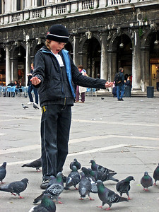 Boy with Pigeons, Venice, Italy © Jennifer Cooper 2006
