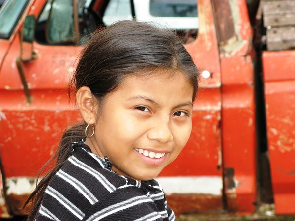 While working as a volunteer in a Mayan village - Muchucxcah - in the Yucutan, Mexico, I photographed some of the children in the village, including this young girl.