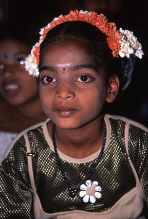 Girl in school play, Kanchipuram, India