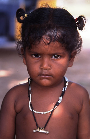Child in Kanchipuram, India