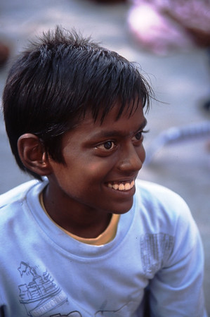 Schoolboy in Kanchipuram, India