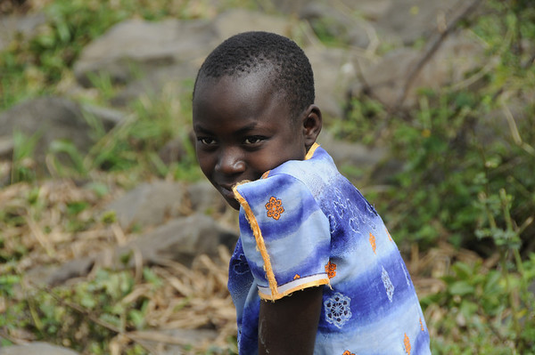 Girl on Maboko Island, Lake Victoria, Kisumu, Kenya, africa, east africaJune - Sept 2009