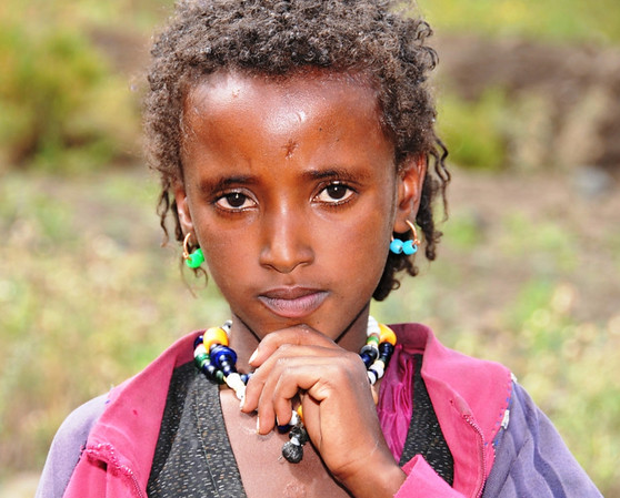 Young Girl in Village Northern Ethiopia