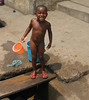 Bathing on the Street, Elmina, Ghana