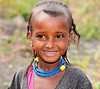 Young Girl Herding Cows Ethiopia