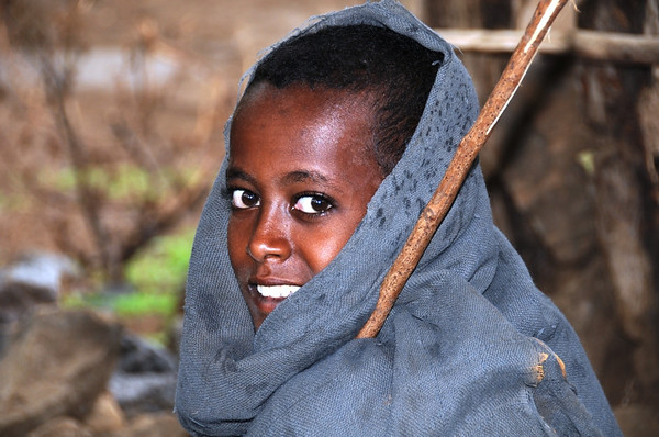 Taking Shelter From the Rain Near Blue Nile Falls in Ethiopia
