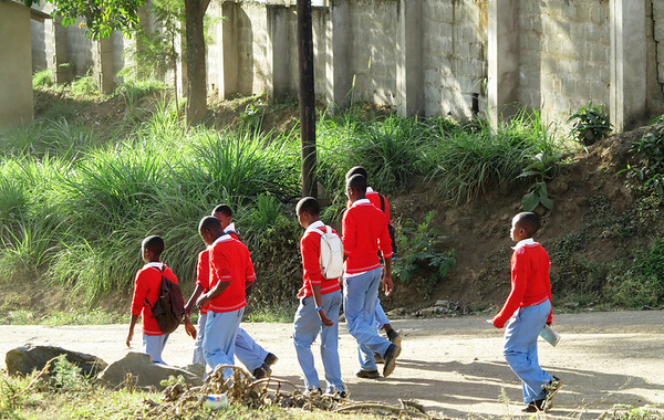 school boys in Oldadai, Tanzania
