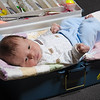 Photo of baby in a tacklebox