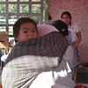 Baby In A Rebozo, A Favorite Baby Carrier Among The Nahua Women