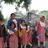 Sweet Indian School Girls In Their Uniforms, High In The Mountains Of Guerrero